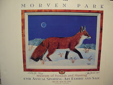 SAM BARNES  LIMITED EDITION SIGNED POSTER  OF A WINTER  FOX