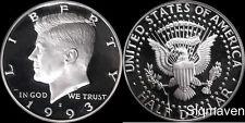 1993 S 90% Silver Kennedy Half Dollar Deep Cameo Gem Proof No Reserve