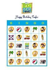 Teen Beach Movie Disney Personalized Birthday Party Game & Activity Bingo Cards