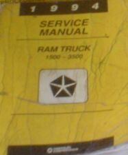 1994 Dodge Ram Truck DIESEL 1500 2500 3500 Service Shop Repair Manual OK CONDITI