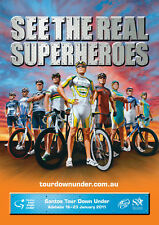 TOUR DOWN UNDER 2011 OFFICIAL POSTER LANCE ARMSTRONG