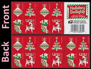 US 5526-5529 5529b Holiday Delights forever booklet (20 stamps) MNH 2020