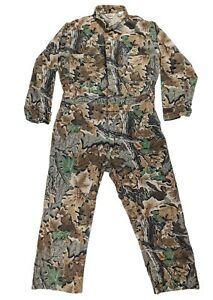 Vintage WALLS Advantage Camo Coveralls Hunting Size XL Tall 46-48 Made in USA