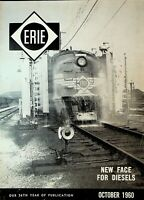 Erie Railroad Magazine October 1960 Diesels Hornell Yards Bedford Heights Oh