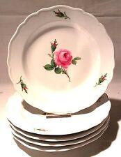 Meissen ROSA ROSSA PIATTI DESSERT Torta Piatto 17,5cm KNAUF Spade 19. Jhd.