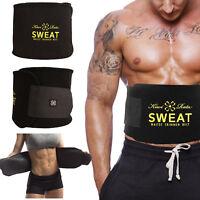 Men Women Hot Sweat Belt Waist Trainer Trimmer Fat Burner Body Shaper Cincher US