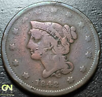 1842 Braided Hair Large Cent --  MAKE US AN OFFER!  #W3141 ZXCV