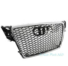 HONEYCOMB SPORT EURO RS4 HEX GRILLE BLACK/CHROME TRIM FOR 09-12 AUDI A4/S4 B8 8T