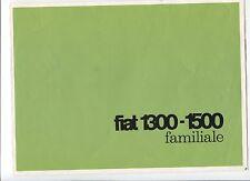 N° 8554 / dépliant FIAT 1300-1500 familiale