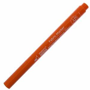 522S-7 Marvy Uchida Fabric Marker, Fine Point, Orange Ink, Pack of 1