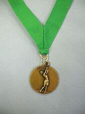 """gold female golf medal green drape 1 1/2"""" diameter"""