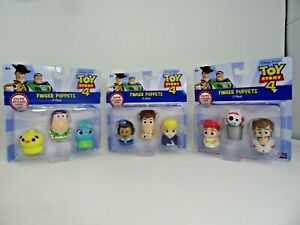 Toy Story 4 Finger Puppets 3 Pack Complete Set Woody Buzz Jessie Disney Pixar