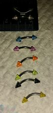 Uv arrowcurved piercings Jewelry belly Eyebrow nipple 18g any colours available