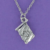 CANADIAN FLAG Necklace - Pewter Charm on Chain Engraved Canada Maple Leaf NEW