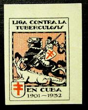 1932, Latin America, Tb Charity Seal, Knight Slaying Dragon, 1 Seal, Mnh