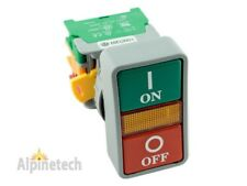 ATI DPB30 30mm ON OFF Double Push Button Momentary Switch 120V LED Light