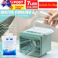 NEW B Mini Portable Mini Air Conditioner Cool Cooling For Bedroom Cooler Fan❤