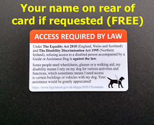 More details for assistance dog guide dog service dog legal access id card uk equality act 2010
