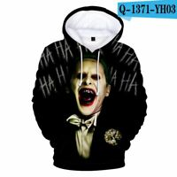 3D haha joker Sweatshirt Hoodies Men and women Hip Hop Funny Autumn Streetwear