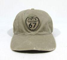 VTG 90S POLO RALPH LAUREN STRAPBACK HAT CAP SPORT SHIELD USA FLAG OUTDOORS PATCH