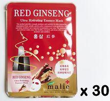 30pcs Korea beauty cosmetic [Malie] RED GINSENG Essence Face Mask sheet 0.88oz