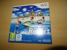 NINTENDO Wii SPORTS RESORT PAL  CARDBOARD SLIP CASE new sealed