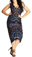 CITY CHIC XL 22 NWT RRP $129.95 DRESS MYSTERY WOMAN BLACK