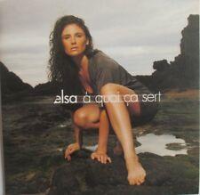 "ELSA LUNGHINI - CD SINGLE PROMO ""À QUOI ÇA SERT"""