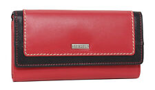 Starhide RFID Blocking Real Soft Leather Purse Wallet Women Gift Red Black 5560