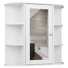 Armoire de Toilette Suspendre Salle Bains Miroir Maquillage MDF Bois 0022WY