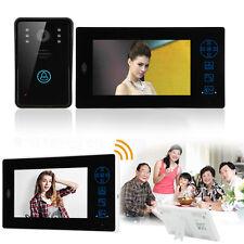 """2.4G 7"""" Wireless Video Door Phone Camera Doorbell Home Security Intercom System"""