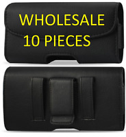 Extra Large Leather case Belt Clip WITH LOOP Holster For iPhone  LOT OF 10
