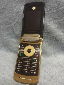 Motorola V8 RAZR2 Handy Gehäuse gold schwarz #2 C mobile phone case housing