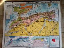 carte scolaire Afrique du nord Jean Brunhes n°18 recto renseigné / verso muette