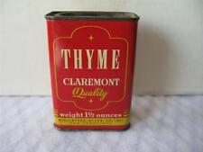 Vintage Claremont Thyme Spice Tin, Claremont Tin, Spice Tin