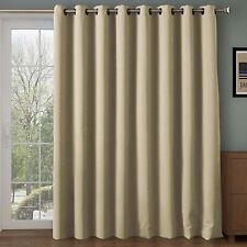 Blackout Window Patio Door Curtains Thermal Insulated Drapes for Bedroom 1 Panel
