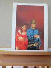 Originalzeichnung von Günther König  Titelbild  Clint Eastwood Romanheft