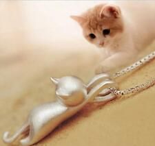 Cat Chain Jewelry Women New Charm Pendant Necklace Matte Pendant Brushed