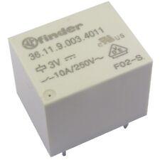Finder 36.11.9.003.4011 Relais 3V DC 1xUM 10A 25R 250V AC Relay Print 855032