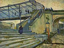 Vincent Van Gogh Puente En trinquetaille viejo maestro Arte Pintura impresión 2954oma