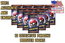 x10 Detective Pikachu - Pokemon Booster Pack Lot - US Seller (4 Holos per Pack)