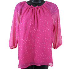 Wonder Nation Pink & Silver 3/4 Sleeve Shirt Girls Size (14-16)
