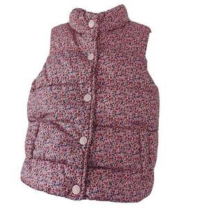 Next 2-3 years Gilet waistcoat body warmer  pink ditsy flower