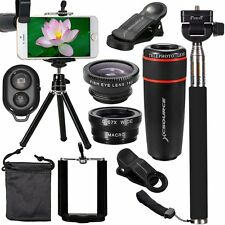 XCSOURCE 10 in 1 Mini Lens Kit 8x Telephoto Lens + Fish Eye Lens + Wide Angle...