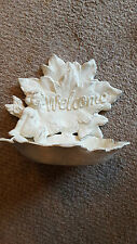 Antique style small bird feeder/water dish.Angelic cherub.Cast iron. Captivating