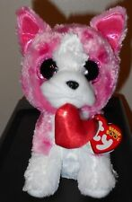"""2017 Ty Beanie Boos ~ ROMEO the 6"""" Dog for Valentine's Day 2018 ~ IN HAND"""