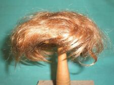 "doll wig mohair strawberry blond 9.5"" to 10""/Glorex/ short"