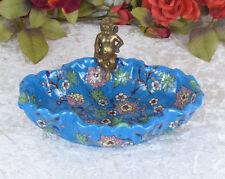 Schale Porzellan Bronze Obstschale Engel Jugendstil Craquelle Antik Deko Ablage