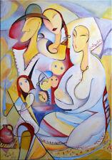 "39"" - PEASANTS FAMILY____ORIGINAL painting by RALUCA !!"