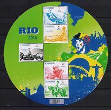 BELGIUM  2016 RIO OLYMPICS  SOUVENIR SHEET MNH**